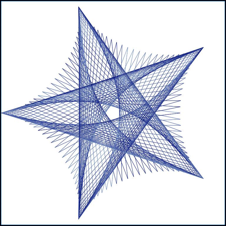 Line Design Art Math : Stringart
